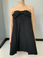Milly Cabana Black Strapless Skater Bow Dress Us 6 Uk 10 Vgc