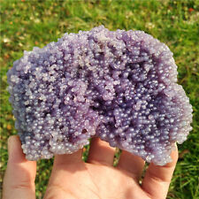 650g  Bubbly Gorgeous Purple Chalcedony Grape Agate Specimen Indonesia  h2603c