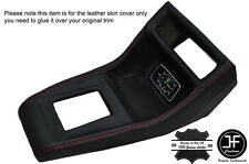RED STITCHING CONSOLE GEAR SURROUND LEATHER COVER FITS FORD ESCORT MK2