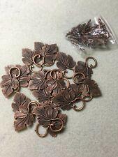 Copper vine leaf toggle clasps (wholesale pack)