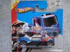 "HOT WHEELS 2013 102/250 Rennen Plataforma Camión Taxi Azul HW Carreras ""No 2.5cm"
