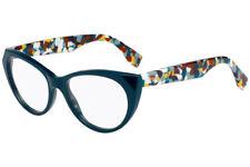 a66c81e5920 Brand New Authentic Fendi FF 0205 FF0205 737 Eyeglasse Blue Multicolor Frame