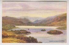 Cumbria postcard - Derwentwater from Castle Head