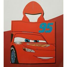 DISNEY poncho cape de bain CARS flash mcqueen rouge 60 x 120 cm serviette