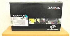Cartouche Toner Original LEXMARK C736H1CG C734 C736 X736 X738 Encre Cyan Genuine