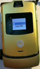 Classic Motorola V3 Razr Black/Gold Metal 100% Att/ Unlocked Mobile Phone 2G