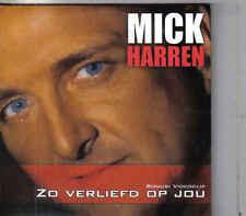 Mick Harren-Zo Verliefd Op Jou cd single incl videoclip