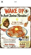 """TIN SIGN """"Sweet Syrup"""" Breakfast Eggs Morning Kitchen Vintage Waffles Pancakes"""