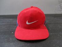 VINTAGE Nike Hat Cap Strap Back Adjustable Red Blue Swoosh Adjustable Mens 90s