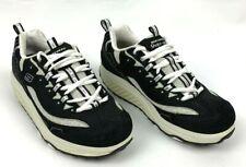 Skechers Shape Ups Womens 8.5 Black Silver Walking Toning Work Out Shoes 12310