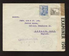 Canarias es.1945 Cubierta Para Gb... censor militar de las Palmas