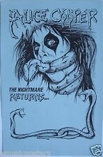 """ALICE COOPER """"THE NIGHTMARE RETURNS"""" POSTER - Snake Wrapped Around Alice's Head"""
