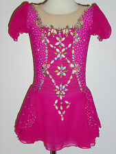 CUSTOM MADE TO FIT Elegant Figure Skating Dress WITH CRYSTALS