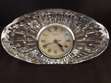 Waterford Clear Crystal LARGE  Oval Mantle or Desk Clock Excellent Condition! 8""