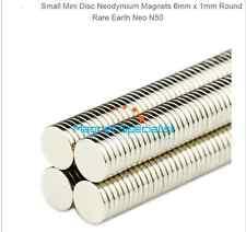 x10 N52 Nickel Plated 6x1mm Neodymium Rare-Earth Disk Magnets