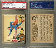 1940 GUM INC. SUPERMAN #25 TRAPPED IN THE AIR PSA 5.5 (3521)