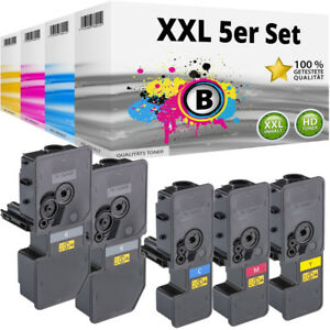 5x XL TONER TK-5220 für Kyocera Ecosys M5521cdn M5521cdw P5021 P5021cdn P5021cdw