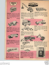 1966 PAPER AD Structo Toy Van Truck Cement Mixer Nylint Mobile Home Road Grader