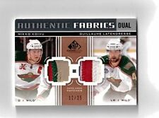MIKKO KOIVU GUILLAUME LATENDRESSE 11-12 SP GAME USED 4 COL DUAL JERSEY PATCH /25