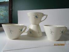 Vintage MCM Salem China Northstar Atomic Starburst Coffee Cups 4 USA