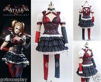 Batman Arkham Harley Quinn Uniform Cosplay Costume Dress Dark Knight Suit