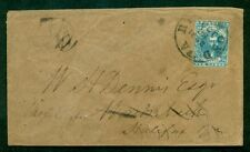 CONFEDERATE STATES Oct. 1862 10¢ blue tied RICHMOND VA to HALIFAX