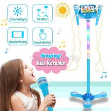 Kids Karaoke Microphone Musical Toys Adjustable Stand Karaoke Machine Light Mp3