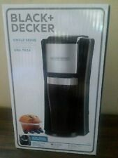 Black and Decker Single Serve Coffee Maker 16oz Travel Cup Included.