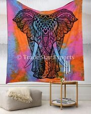 Large Elephant Queen Tapestry Cotton Ethnic Hippie Throw Good Luck Wall Hanging