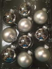 Set of 10 Silver Christmas Round Ornaments Wreaths Garland Tree NIB Free Ship