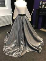 Silver Concours d'elegance, horse riding skirt, pony dress, made to measure