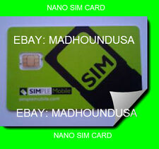 made for Simple Mobile Nano SIM Card for the iPhone 5 Prepaid #305