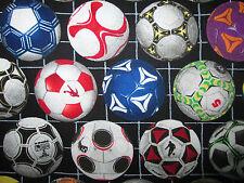 Soccer Ball Futbol Sports Olympics Bright Colors Cotton Fabric FQ