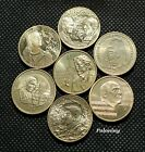 LOT OF SEVEN COMMEMORATIVE 2 ZLOTY COINS OF POLAND - POLISH FAMOUS COMPOSERS