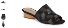 Donald Pliner Rimini Black Kid Suede Wedge Sandal Women's Size 6-10 NEW!!!