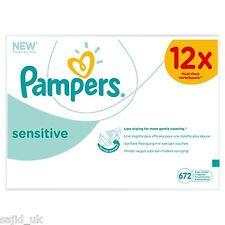 Pampers Sensitive Wipes Multi-Pack Giga 12x Packs of 56 (672 Wipes) - FREE P&P