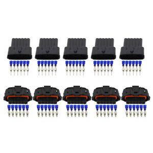 5 Sets 6 Pin Harness Car Wiring Plug Waterproof Connector DJB7069YB-3.5-11/21