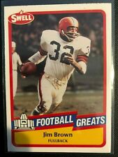 Jim Brown 1989 Swell Football Greats #47 Cleveland Browns