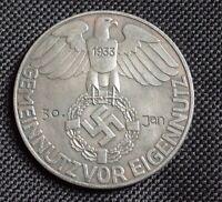 WW2 GERMAN COMMEMORATIVE COIN 1933 WEHRMACHT HITLER
