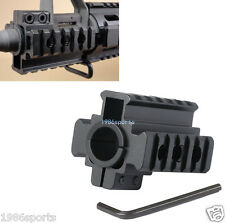 "New Weaver Picatinny 7/8"" 20mm Tri-Rail Barrel mount For Rifle scope Lights #489"