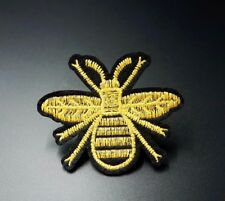 Honeybee Bee Embroidered Patch Applique Iron On / Sew On Clothing Bag Patches