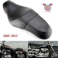 2 Up Seat Saddle Leature For Harley Sportster XL883N XL1200N Iron 48 72 05-2013