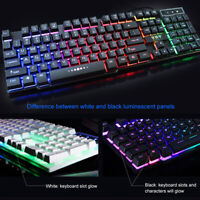104 Keys USB Wired Mechanical Computer  Gaming Colorful Backlight Cool Keyboard