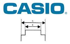 Genuine Casio Rubber Strap Band 10222860 17/20mm
