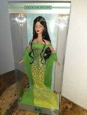 2002 August Peridot Barbie NRFB Mint Collector Edition of Birthstone Collection
