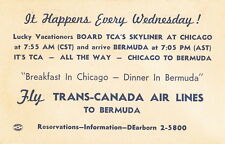 TRANS-CANADA AIR LINES ADVERTISING POST CARD - 1948