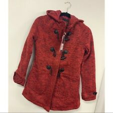 NEW/NWT Yoki Melange Red Hoodie Coat - Zip/Toggle - Medium