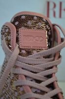 675$ Red Valentino High Top Sneakers with Sequin Polka Dot Pink 39 Leather Shoes