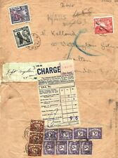 MALTA Valletta GB Air Mail Cover Postage Dues Customs Label 1950 {samwells} PA15