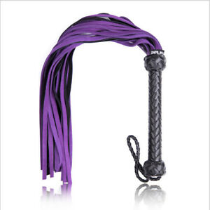PU Leather Flogger Whip Tickler Role Play Prop Hen Party Fancy Costume Sex Gifts